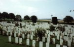 Cemetery at The Somme where one of my characters now lies.  (c) Jane Risdon 2013