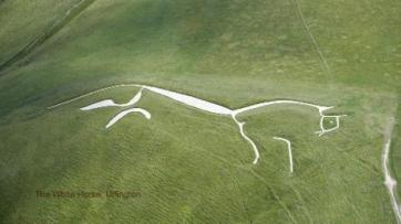 The White Horse at Uffington in The Vale of The White Horse