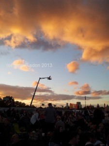 Over head camera filming the crowd in Hyde Park at the Last Night of the Proms (c) Jane Risdon 2013