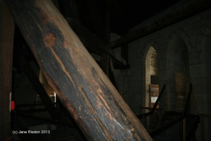 When this tree was felled it was already 300 years old. This is in the roof above the Lantern in the Octagon. (c) Jane Risdon 2013