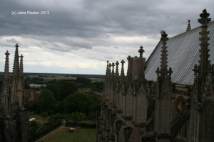 Roof of Ely Cathedral, Octagon ad Lantern area (c) Jane Risdon 2013