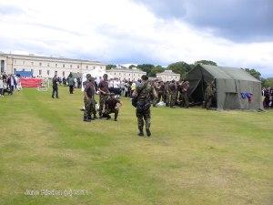 Soldiers demonstrating training (c) Jane Risdon 2011