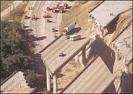 Freeway disappears Northridge quake 1994 - (c) Unknown