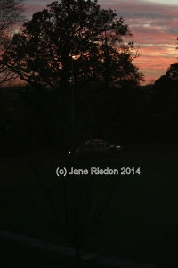 Sunset on a not so perfect day (c) Jane Risdon 2014
