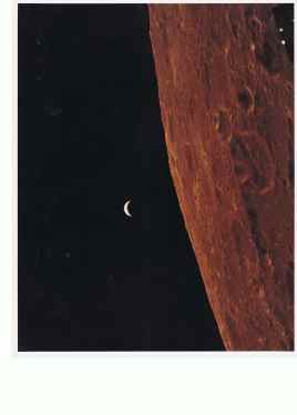 Earth in the distance seen from the Lunar surface (c) NASA 1969