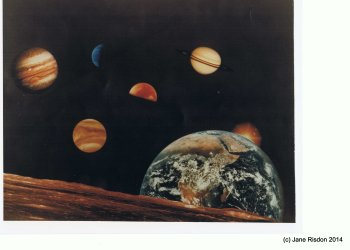 Solar System (1979) from various NASA spacecraft  (c) NASA 1979