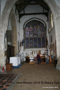 Inside St Mary's Parish Church Rye (c) Jane Risdon 2014
