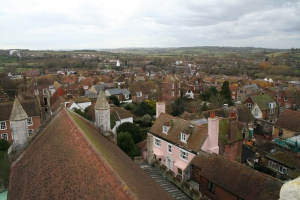 Up above the roofs and house...(c) Jane Risdon 2014