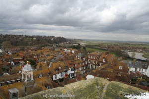Rye from the church roof (c) Jane Risdon 2014