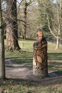 Sculpture in the woods at Wakehurst Place (c) Jane Risdon 2014