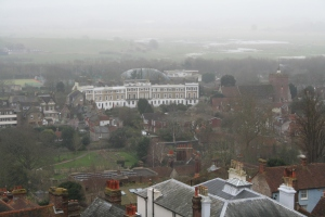 The mist began to clear - momentarily at Lewes (c) Jane Risdon 2014