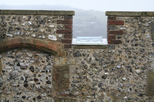 On the castle roof (c) Jane Risdon 2014