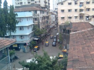 View from The Grant Road Mission, Mumbai in The White Haired Man (c) Jane Risdon 2014