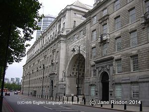 Thames House home of MI5 (c) attributed to Cnbrb English Language Wikipedia