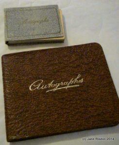 Autograph Books (c) Jane Risdon 2014