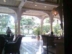 Taj Hotel Restaurant, Mumbai before the terrible events. (c) Risdon 2008