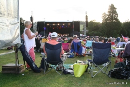 Unknow concert goers enjoying Audley End House Last Night of the Prom.