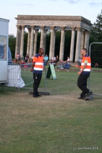 Security at Audley End House.