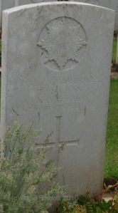 Great Uncle Thomas Nyhan died 26the September 1916 (France) (c) Jane Risdon 2014
