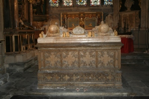 The tomb of Lady Margaret Holland with her two husbands and is housed in the Chapel of St Margaret (The Warriors' Chapel) (c) Jane Risdon 2015