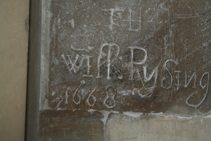 Graffiti from 1668 (c) Jane Risdon 2015