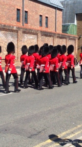 Guards Marching to Windsor Castle (c) Jane Risdon 2015