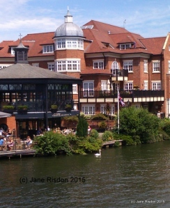 Riverside businesses on the Eton side of the river (c) Jane Risdon 2015