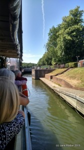 Going through the lock (c) Jane Risdon 2015