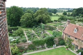 Garden 'rooms' view from the Tower (c) Jane Risdon 2015