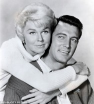 Rock Hudson & Doris Day. Pillow Talk publicity photo. public domain