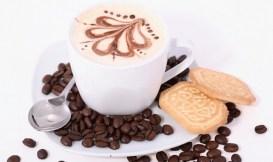 coffe mug and beans Public Domain