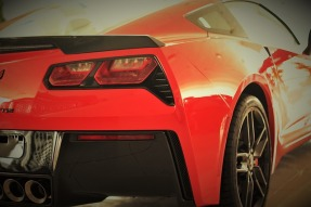 Red Corvette rear end