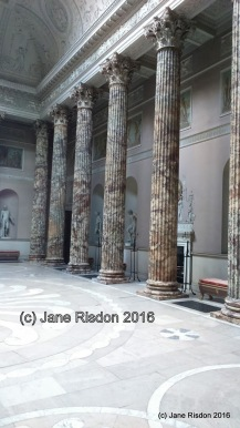25 foot Derbyshire Marble Columns in the Marble Hall. (c) Jane Risdon 2016