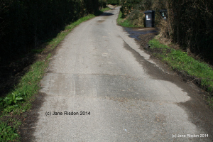 Sleeping Policeman - a/k/a a Speed Hump (c) Jane Risdon 2014