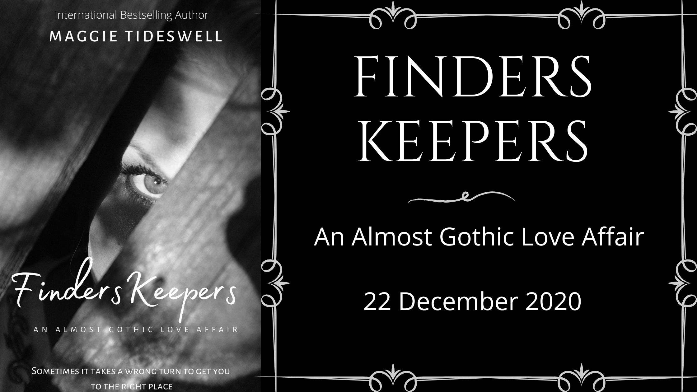 International Best-selling Maggie Tideswell, author of Finders Keepers: An Almost Gothic Love Affair, is my last Guest Author of 2020