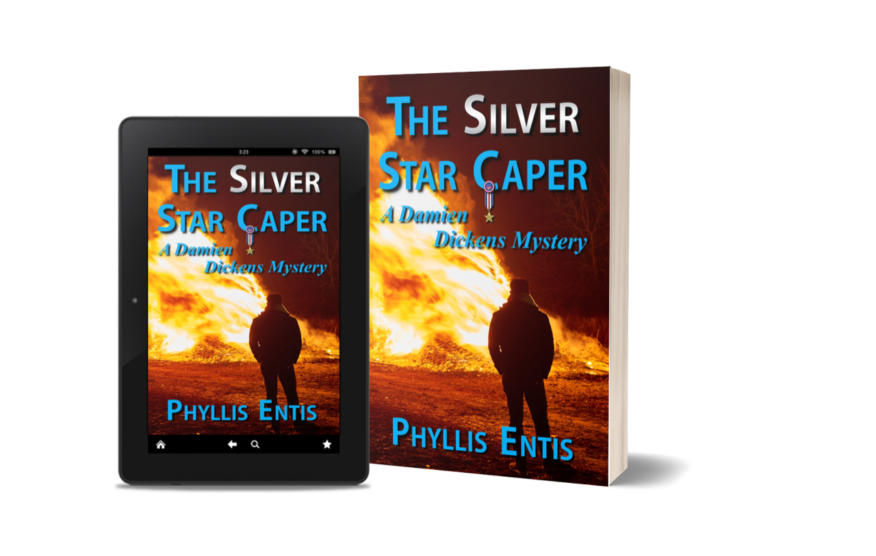 Phyllis Entis: My Guest Author on tour with The Silver Star Caper – a new Damien and  Millie Dickens novel.